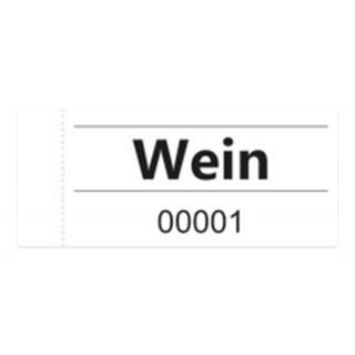 """OMEGA Gutscheinblock """"Wein"""" 100 Blatt weiß"""