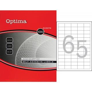 OPTIMA Etiketten 32077 DIN A4 100 Blatt 3,8 x 2,12 cm