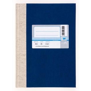 WURZER Geschäftsbuch A5 96 Blatt liniert dunkelblau