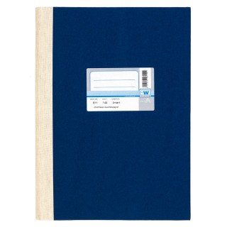 WURZER Geschäftsbuch A4 144 Blatt liniert dunkelblau