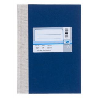 WURZER Geschäftsbuch A5 96 Blatt kariert dunkelblau