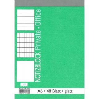WURZER Block A6 48 Blatt glatt