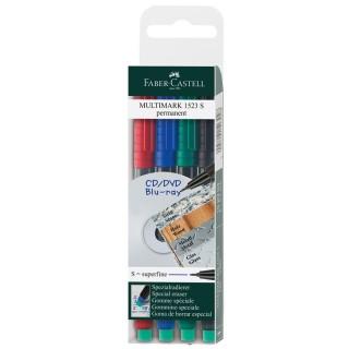 FABER CASTELL OHP-Stift Multimark 1523 permanent S 4er Etui