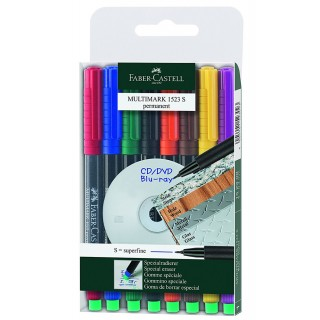 FABER CASTELL OHP-Stift Multimark 1523 permanent S 8er Etui