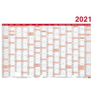 LEYKAM Jahresplaner KA70100 Papier 70 x 100 cm 2021