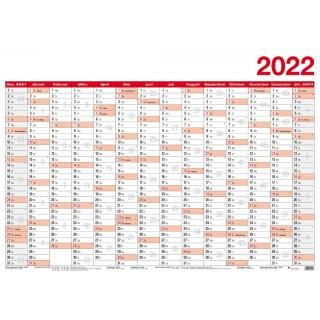 LEYKAM Jahresplaner KA70100 Papier 70 x 100 cm 2022