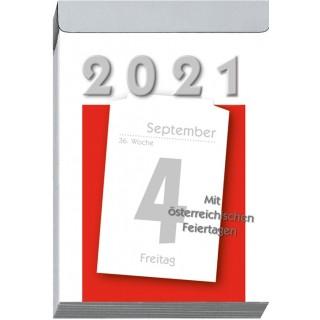 LEYKAM Tagesabreißkalender KA04 83 x 128 mm 1 Tag pro Seite 2021
