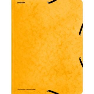 PAGRO Flügelmappe Pressspan mit Verschluss A4 gelb