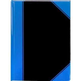 PAGRO Chinabuch A4 96 Blatt 60 g/m² kariert schwarz/blau