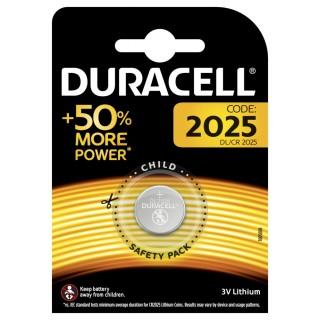 DURACELL Batterie Lithium Knopfzelle 2025  3V 1 Stück