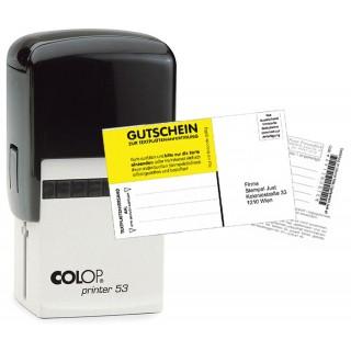 COLOP Stempel Printer 53 44 x 29 mm inkl. Gutschein für Stempelplatte