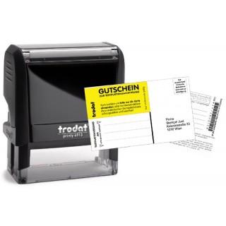 TRODAT Stempel Printy 4913 57 x 21 mm 6-zeilig mit Gutschein