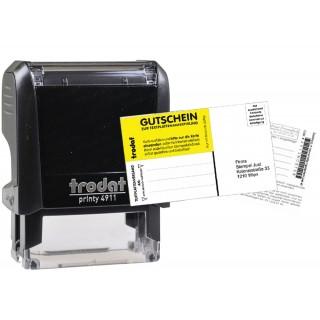 TRODAT Stempel Printy 4911 37 x 13 mm 4-zeilig mit Gutschein