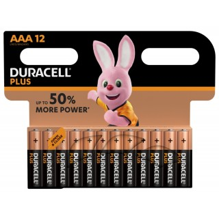 DURACELL Batterien 12 Stück AAA Plus Power