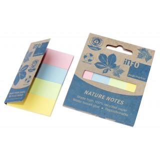 INFO NOTES Papiermarker Recycling  20 x 50 mm 4 Stück à 40 Blatt