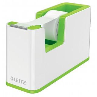 LEITZ Abroller 5364 WOW Duo befüllt weiß/grün metallic