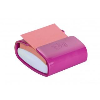 POST-IT® Super Sticky Z-Notes Spender PRO-F1NG mit 1 Block POST-IT® Super Sticky Z-Notes 90 Blatt fuchsia