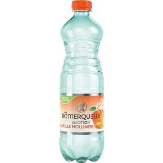RÖMERQUELLE Emotion 16 Flaschen à 0,75 Liter Marille-Holunderblüte