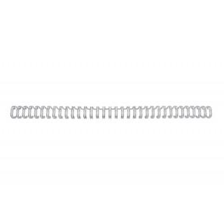 GBC Drahtbinderücken WireBind 100 Stück DIN A4 3:1-Teilung 12,5 mm silber