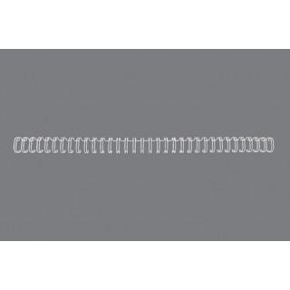GBC Drahtbinderücken WireBind 100 Stück DIN A4 3:1-Teilung 12,5mm weiß
