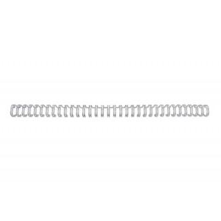 GBC Drahtbinderücken WireBind 100 Stück DIN A4 3:1-Teilung 11mm silber