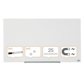 """NOBO Widescreen Whiteboard aus Glas 677x381 mm (31"""") brillantweiß"""