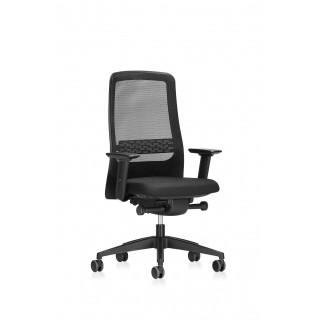 INTERSTUHL Bürodrehstuhl F170 mit Netzrückenlehne schwarz