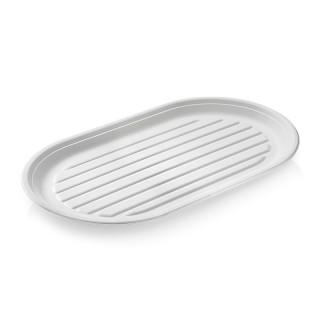 Einwegplatte 50 Stück oval 55 x 32 cm weiß