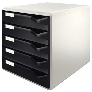 LEITZ Schubladenbox 5280 5 Laden 28,5 x 35,5 x 29 cm schwarz