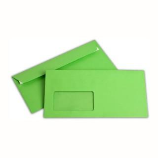 ELCO Fensterkuvert Office Color 250 Stück DIN C6/5 mit Haftstreifen 100g/m² dunkelgrün