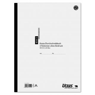 URSUS Kassabuch 850/2 A4 2 x 50 Blatt 2 Kolonnen