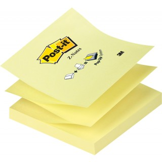 POST-IT Haftnotiz Z-Notes 76 x 76 mm 100 Blatt gelb