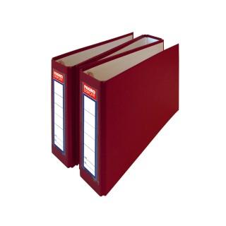 PAGRO Ordner für Bankauszüge mit Rückenschild 3 Stück rot