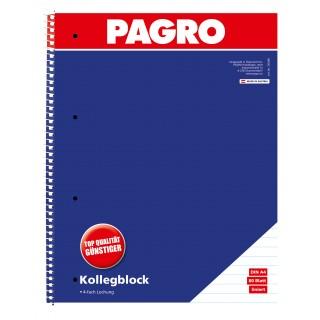PAGRO Collegeblock 2 Stück A4 80 Blatt liniert
