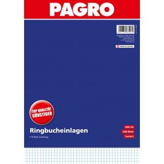 PAGRO Ringbucheinlage A4 200 Blatt kariert