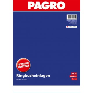 PAGRO Ringbucheinlage A4 200 Blatt liniert