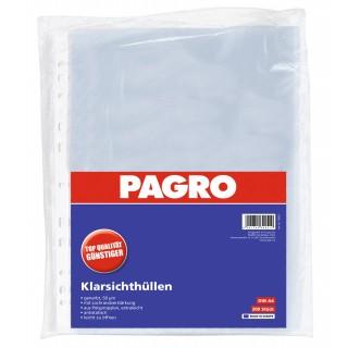 PAGRO Klarsichthülle A4 200 Stück 50 µm transparent