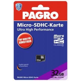 PAGRO Micro-SDHC Speicherkarte 32 GB schwarz