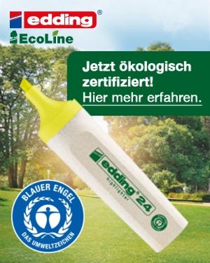EDDING EcoLine: Grün ist nicht nur eine Sortimentsfarbe!