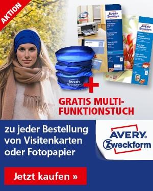 GRATIS Multifunktionstuch zu jeder Bestellung Visitenkarten und Fotopapier