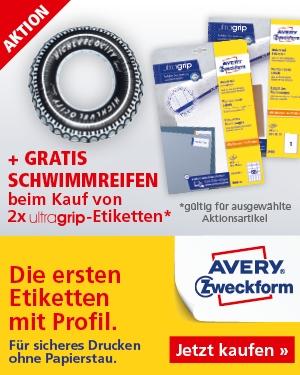 AKTION! 2 Ultragrip Etiketten + Schwimmreifen gratis!