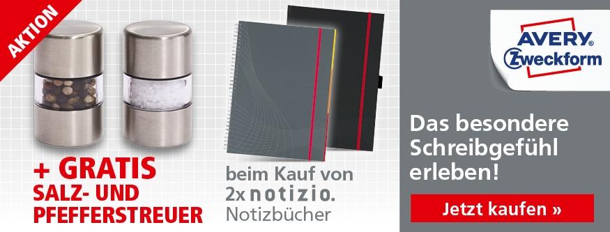 AKTION! 2 Notizbücher + Salz- und Pfefferstreuer gratis!