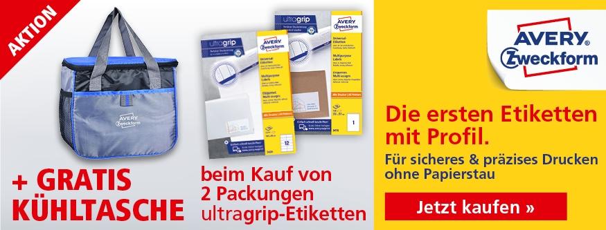 AKTION! 2 Ultragrip Etiketten + Kühltasche gratis!