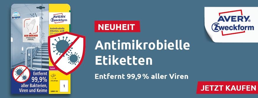 NEU! AVERY Zweckform - Antimikrobielle Etiketten