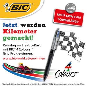 BIC Gewinnspiel - Renntag im Elektro-Kart gewinnen!