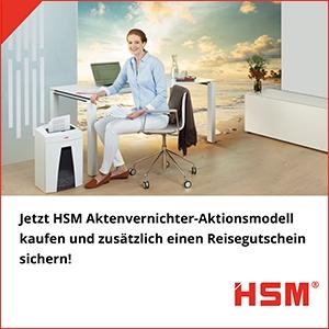 HSM Reisegutschein-Aktion
