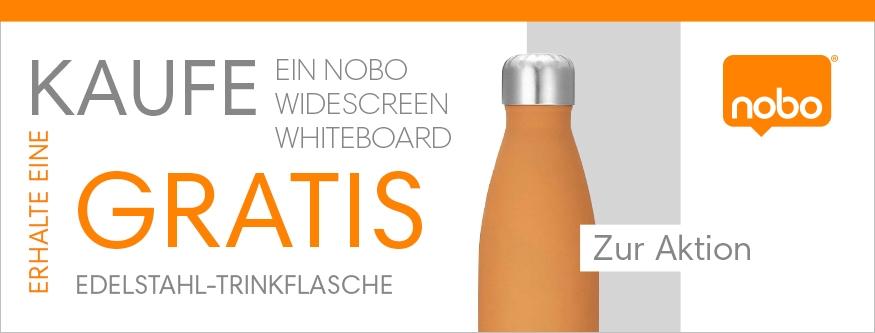 GRATIS Trinkflasche beim Kauf eines NOBO Widescreen Whiteboards!