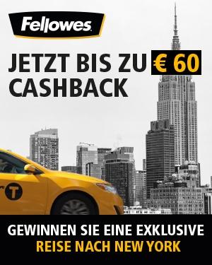 FELLOWES Cashback + Exklusive Reise nach New York gewinnen!