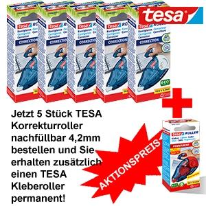 5+1 TESA Korrekturroller+Kleberoller