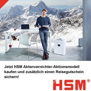 HSM Aktionsmodell kaufen und Reisegutschein sichern